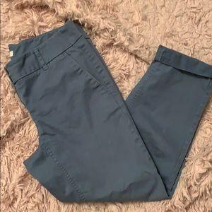 Loft 4P Slate Blue Capri Pants